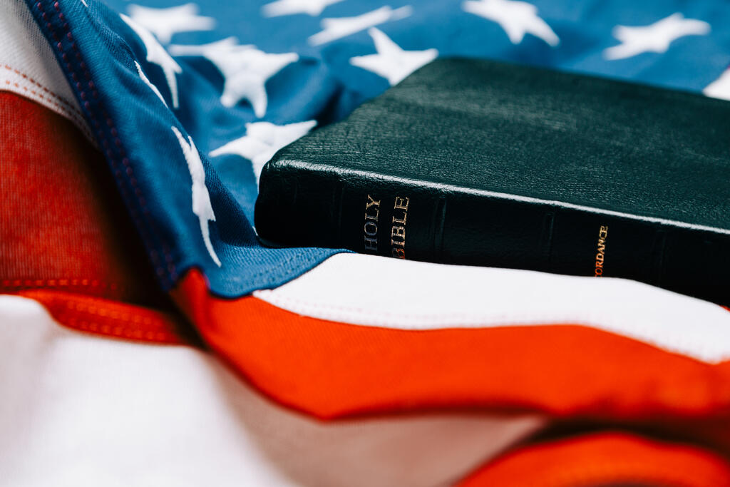 Bible on an American Flag large preview