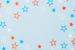Red White and Blue Paper Stars  image 19