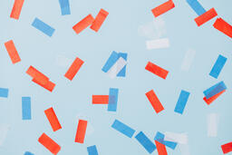 Red White and Blue Confetti  image 2