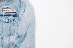 Vote Pin on a Denim Jacket  image 7