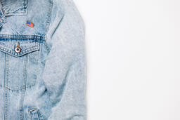 Vote Pin on a Denim Jacket  image 5