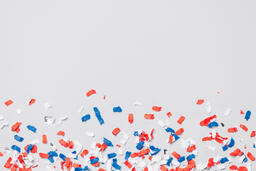 Red White and Blue Confetti  image 1