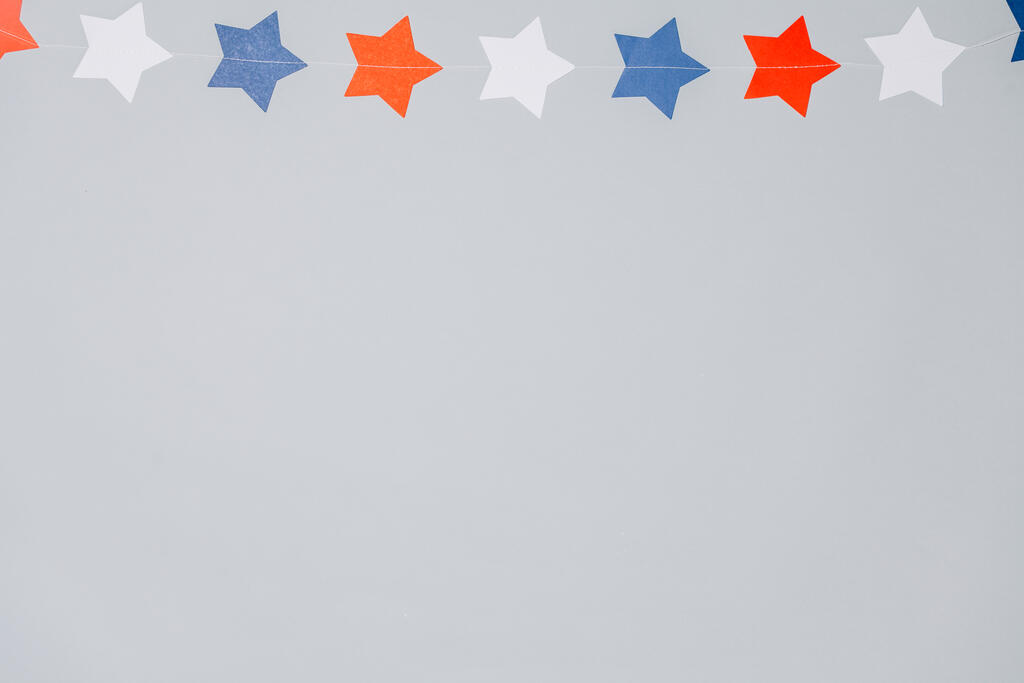 Red White and Blue Star Garland large preview