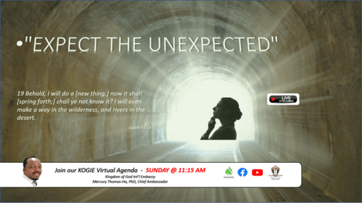 "Live ""Expect the UnExpected"" by Mercury Thomas-Ha, PhD  