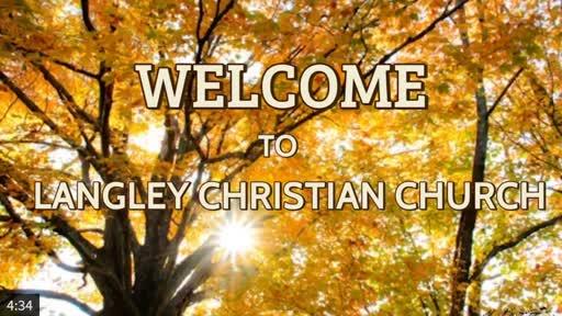 Sunday Worship Service Nov. 1, 2020