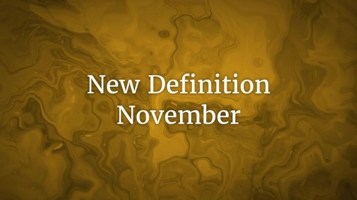 New Definition November