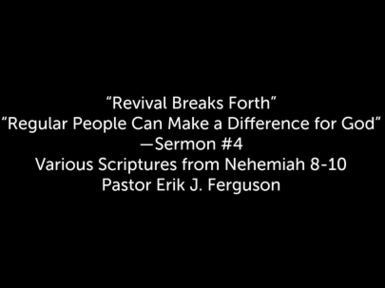 11/1/2020 - Revival Breaks Forth