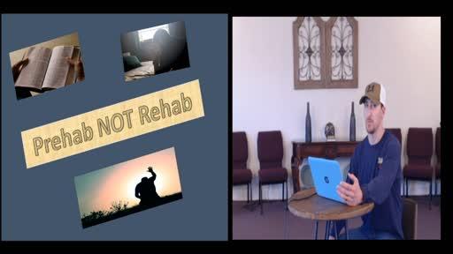 Prehab NOT Rehab