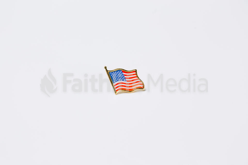 American Flag Enamel Pin large preview