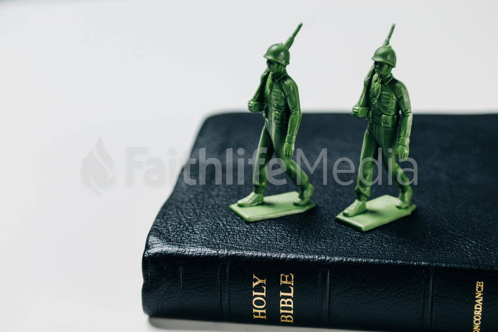 Toy Soldiers Marching on the Bible large preview