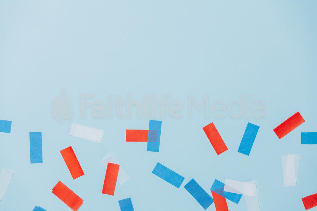 Red White and Blue Confetti large preview