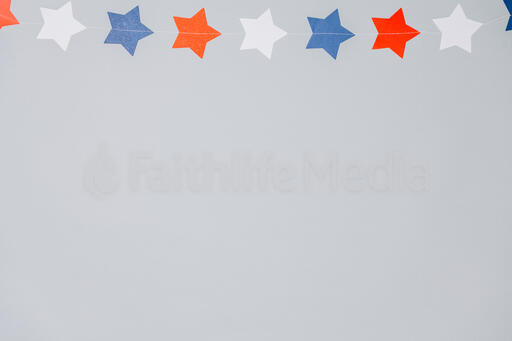 Red White and Blue Star Garland
