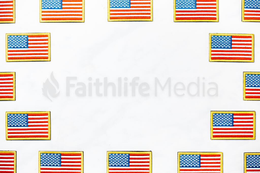 American Flag Patch large preview