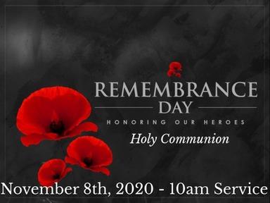 Sunday, November 8th,  10am IN PERSON SERVICE