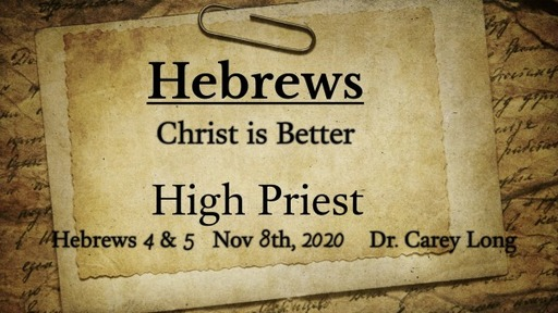 Hebrews: Christ is Better