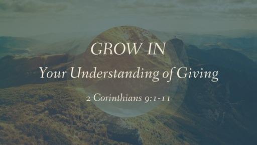 Grow in Your Understanding of Giving