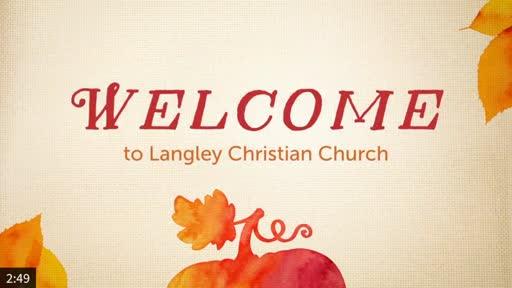 Sunday Worship Service Nov. 8, 2020