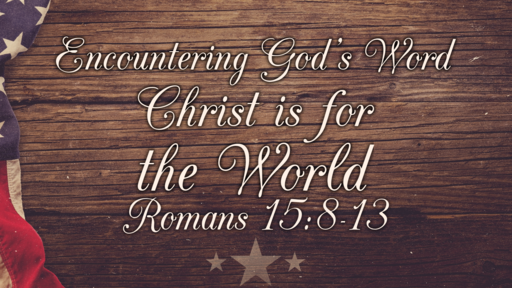 Christ is for the World