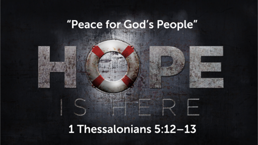 """""""Peace for God's People"""" (Part 1) 