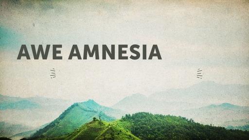Awe Amnesia