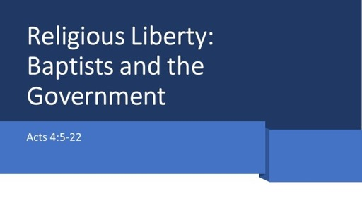 Baptists and the Government