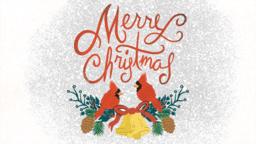 Merry Christmas Cardinal  PowerPoint image 1