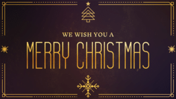 We Wish You A Merry Christmas  PowerPoint image 1