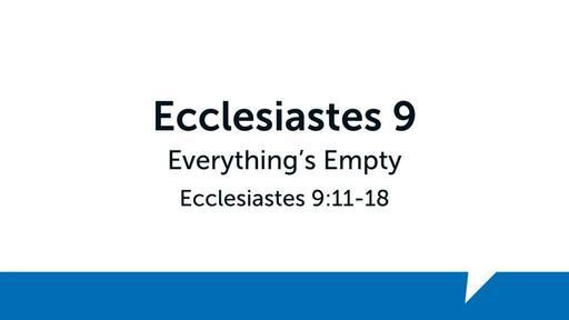 Ecclesiastes 9 (3)