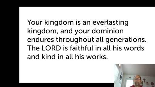 Sat. Nov. 14,  '20 2nd PPT Psalm 145