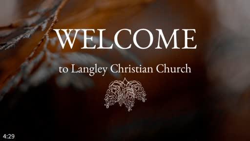 Sunday Worship Service Nov. 15, 2020