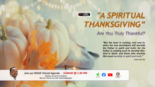 """A Spiritual Thanksgiving"" by Mercury Thomas-Ha, PhD  