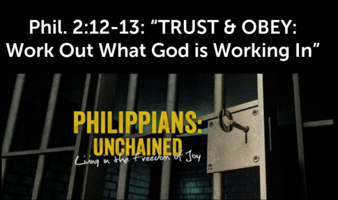TRUST & OBEY: Work Out What God is Working In