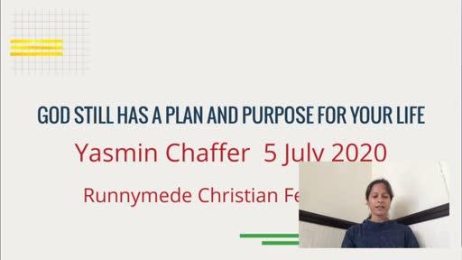 050720 Infill - Yasmin Chaffer - God still has a plan for your life