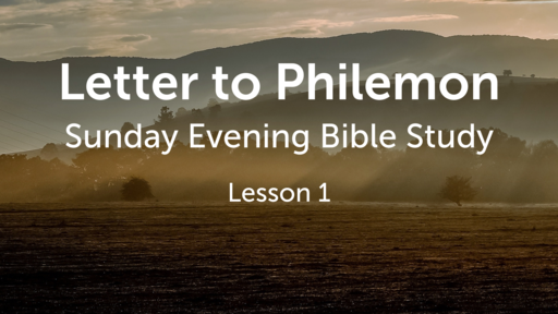 Bible Study on Letter to Philemon