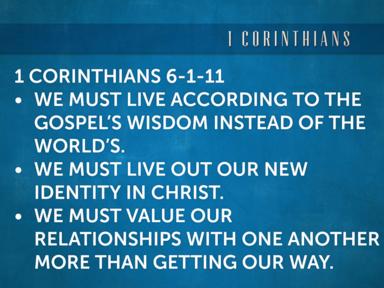 1 Corinthians 6:1-11 Dealing With Disputes