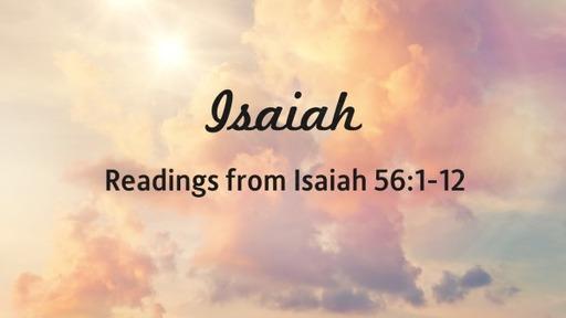 Readings from Isaiah 56