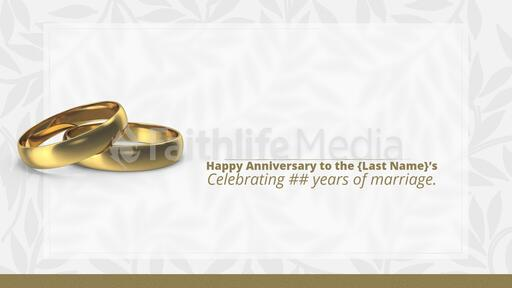 Happy Anniversary Gold