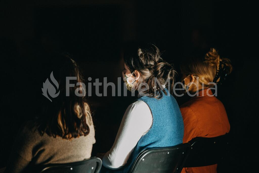 Church Goers Social Distancing large preview