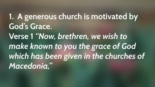 Marks of a Generous Church