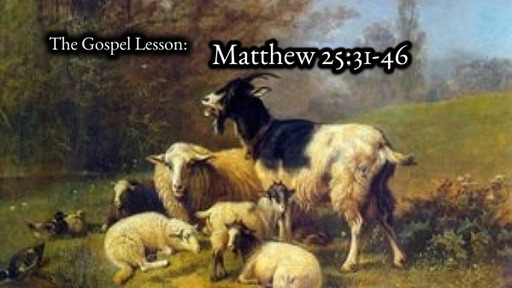 Sunday Nov 22 2020 Reign of Christ