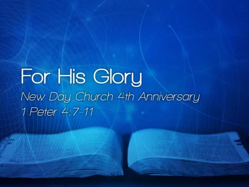 For His Glory - March 26, 2017