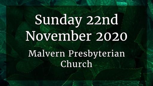 Sunday 22nd November - Service