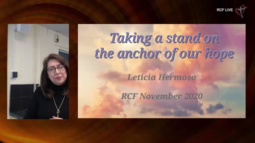 221120 Teaching - Leticia Hermoso - Taking a stand on the Anchor of our Hope