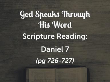"Nov 22 AM ""Vision of the Son of Man"" Daniel 7"