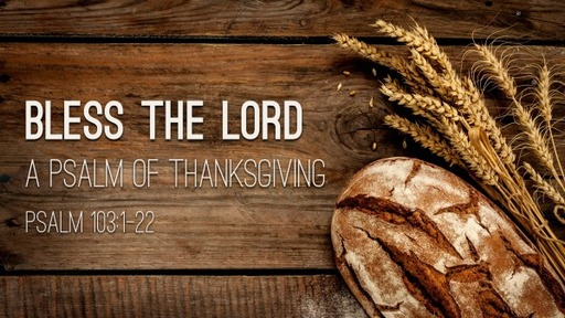 Sunday, November 22, 2020 - AM - Bless the Lord - Thanksgiving - Psalm 103:1-22