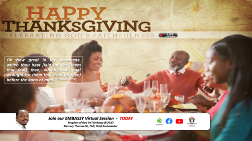 """God's Faithfulness and Thanksgiving"" by Mercury Thomas-Ha, PhD  