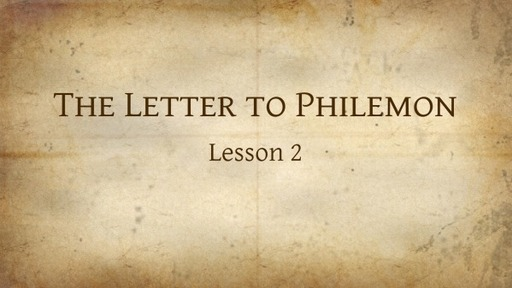 Study of the Letter to Philemon