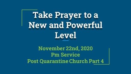 Sunday Evening Nov. 22 Service