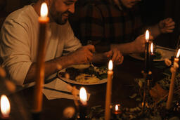 Small Group Sharing a Meal Together  image 2