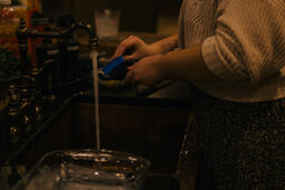 Woman Washing Dishes  image 1